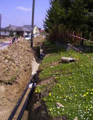 Canalización agua desde centrales térmicas