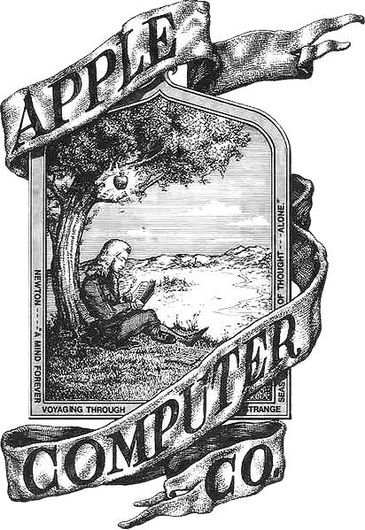 Primer logo historia Apple