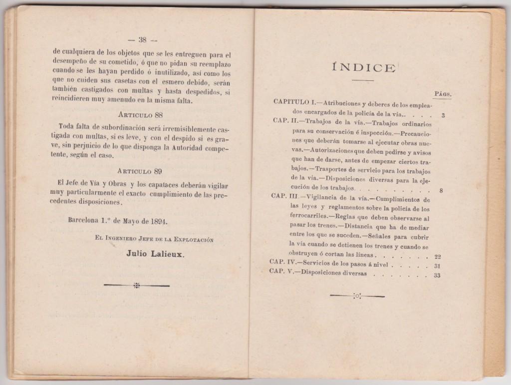 reglamento_vigilancia_ferrocarril_central_catalán_índice